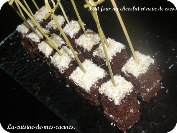 moelleux au chocolat et noix de coco