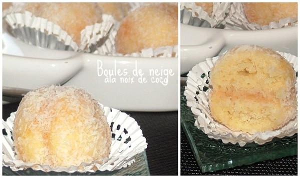 boules de neige à la noix de coco