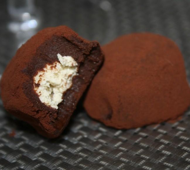 truffes au chocolat coeur halva turc