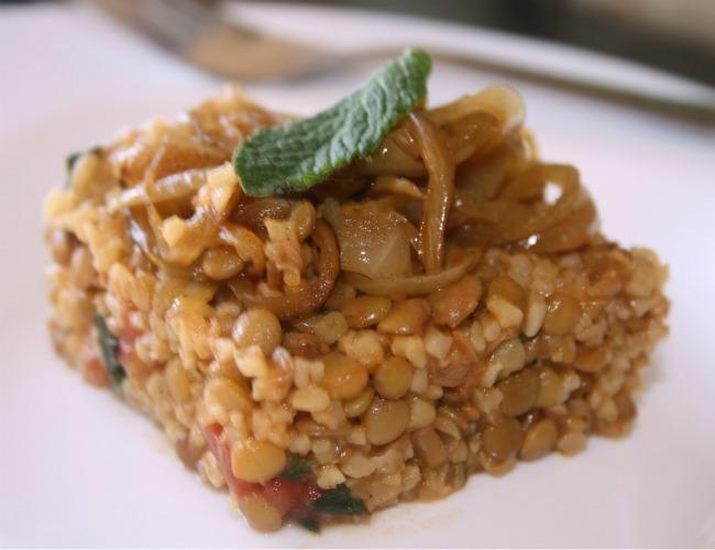 recette libanaise salade de boulgour aux lentilles - la-cuisine-de