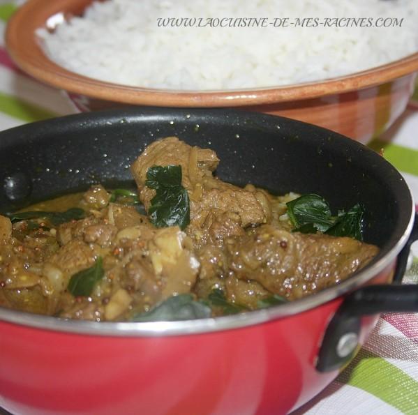 vindaloo d\'agneau recette indienne
