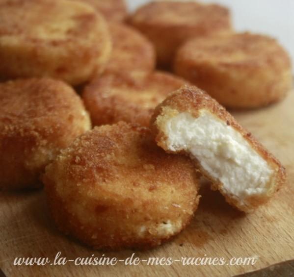 croquettes de fromage de chèvre