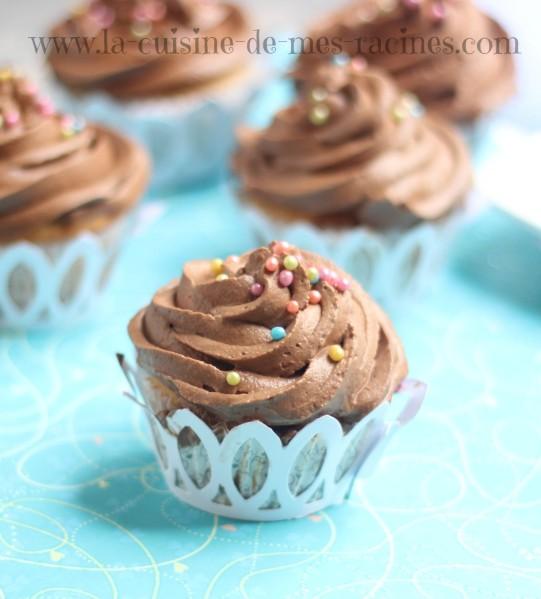 cupcakes chocolat à la ganache montée