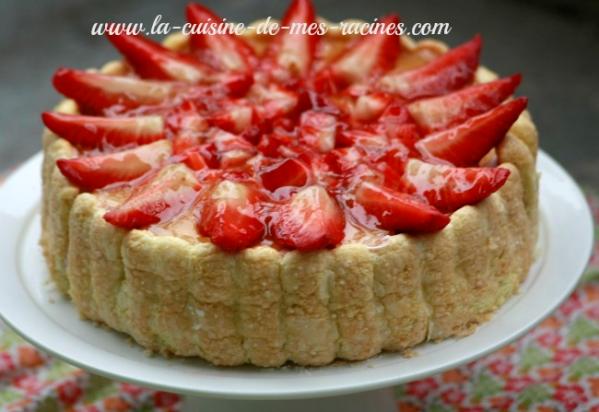 Charlotte aux fraises - Jeux de charlotte aux fraises cuisine gateaux ...